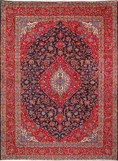 "Kashan Persian Rug, Buy Handmade Kashan Persian Rug 10' 0"" x 13' 9"" - rugs - los angeles - Real Persian Rugs OLDCARPET"