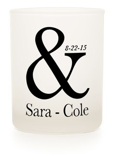 Personalised candle for wedding favours