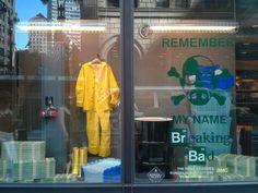 Breaking Bad window display in New York City