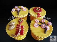 Pretty Chinese New Year Cupcakes | #chinesenewyear #desserts #food