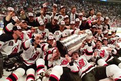 The New Jersey Devils were expected to be a Stanley Cup contender in The previous season ended with a heartbreaking Game 7 loss in the Eastern Conference Finals to the New York Rangers . Hockey Girls, Hockey Mom, Ice Hockey, Stanley Cup Playoffs, Stanley Cup Champions, Team Photos, Sports Photos, Hockey Pictures, Hockey Rules
