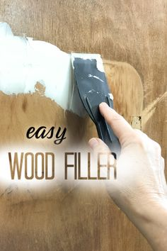 Trying to find an easy wood filler for your furniture painting projects? I'm happy to share my favorite go-to for quick and easy repairs. Furniture Repair, Paint Furniture, Furniture Makeover, Cool Furniture, Furniture Ideas, Furniture Update, Repurposed Furniture, Easy Woodworking Projects, Diy Projects
