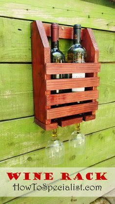 How to Build a Wine Shelf with Glass Rack | HowToSpecialist - How to Build, Step by Step DIY Plans