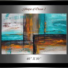 Pintura 40 horizonte pintura Original pintura al óleo