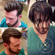 Before & after #menscut #classic #stylist #barber #hanzoshears #hair #hairbypf
