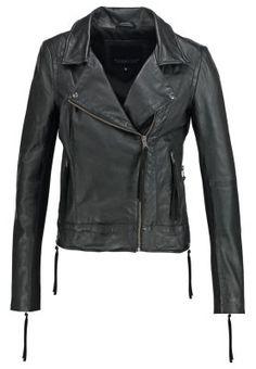 IMAN - Veste en cuir - black