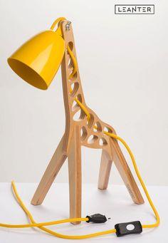 Lampe de table Girafe Gold Noir Lampe de chevet salon lampe éclairage 70 cm