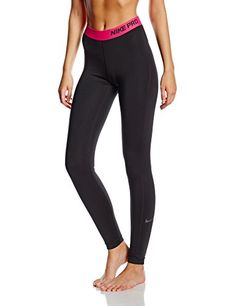 Dri-FIT fabric to wick away and help keep you dry and comfortable. Compression Clothing, Black Tights, Nike Pros, Workout Pants, Yoga Pants, Nike Women, Pajama Pants, Pink, Amazon Fr