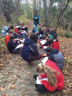 Williamstown Conservation Biologist Artist And Educator Jennifer Lovett Leads Seventh Graders From Hoosac
