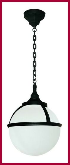 The Elstead Lighting Glenbeigh Porch Chain Lantern is in a Black finish with an opal globe diffuser. The GLENBEIGH CHAIN Hanging Porch Lantern is rated and available from Luxury Lighting. Porch Lanterns, Outdoor Ceiling Lights, Outdoor Hanging Lights, Outdoor Wall Lantern, Hanging Lanterns, Outdoor Lighting, Luxury Lighting, Exterior Lighting, Diffuser