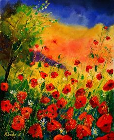 Pol Ledent:  Red Poppies