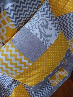 Patchwork Nursery Cushion cover by SnugglyJacks on Etsy