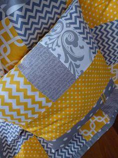 Patchwork Nursery Cushion cover by SnugglyJacks on Etsy