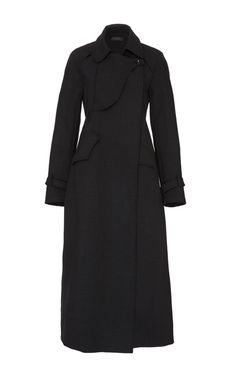 Charcoal Christian Belted Trench Coat by Ellery for Preorder on Moda Operandi