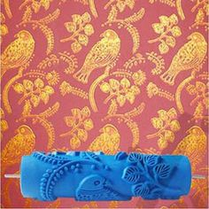 Bird Patterned Wallpaper Decoration Rubber Roller, free shipping option to most countries worldwide. For best shopping experience visit us, trainedtools.com Wall Painting Decor, Painting Tools, Diy Painting, Wall Decor, Pattern Painting, Bird Patterns, Wall Patterns, Flower Pattern Design, Flower Designs