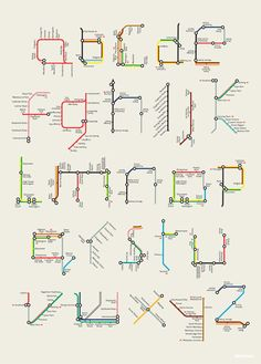 talkingtypes:  Visual message: metro map  Author: Tim Fishlock  Nicely done - even if some of the letters are a bit of a stretch - but Animals on the Underground is more fun.