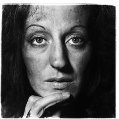 Germaine Greer / Feminist in her hotel room, NYC.  Photograph by Diane Arbus.  1971
