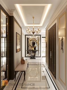 Luxury Homes Interior design & Inspiration Modern Interior Decor, House Design, Foyer Design, Room Design, Contemporary Dining Room Decor, House Interior, Luxury Interior Design, Hallway Designs, Corridor Design