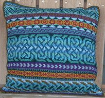 Ravelry: Celtic Pillow pattern by Janine Bajus