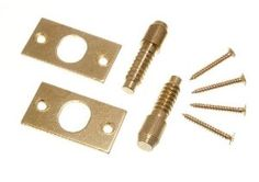 SECURITY HINGE BOLTS EB BRASS PLATED STEEL WITH FIXING SCREWS ( 3 pairs ) by ONESTOPDIY. $11.46