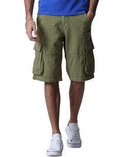 This pair of shorts is very casual which makes it a perfect wardrobe for the beach or strolling around town.It has a lot of features which allow men to enjoy a customized fit. For instance, the waistband consists of an internal drawstring and also external belt loops. | eBay!
