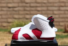 Air Jordan 6 Retro 'Carmine' (Kids) Detailed Pics