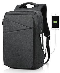 f46e71d0d5a6 Minralu Laptop Backpack Slim Portable Business Backpack Unisex School  College (eBay Link)