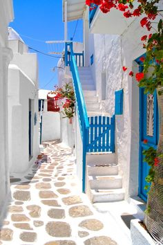 Photo about Beautiful white streets of Mykonos, Greece. Image of mykonos, stairs, building - 39564223 Beautiful Streets, Beautiful World, Beautiful Places, Places To Travel, Places To Go, Zakynthos, Greece Photography, Greek House, Greece Travel