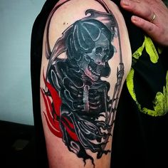 37 Fantastic and Cryptic Grim Reaper Tattoo Design Ideas