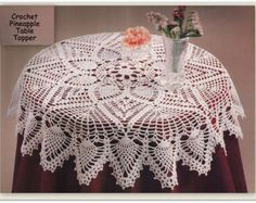 Crochet Tablecloth Pattern Pineapples and Peacock by MsBobbies