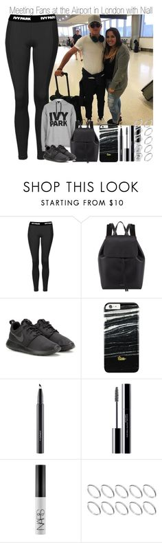 """""""Meeting Fans at the Airport in London with Niall"""" by elise-22 ❤ liked on Polyvore featuring Ivy Park, Mansur Gavriel, NIKE, MAC Cosmetics, shu uemura, NARS Cosmetics and ASOS"""