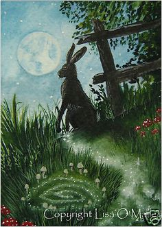 "ACEO, Print Hare ""Trail of Magic"""