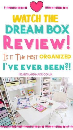 Watch the video and peek inside the new DreamBox from The Original Scrapbox company AND inside my rainbow pastel craft room! Plus Poopers thinking she's a star. Drool over my organised craft supplies, these craft storage ideas are the best! If you're struggling to organize your craft supplies then you need to check out this Craft Storage Furniture! Craft Storage Furniture, Furniture Box, Interior Paint Colors For Living Room, Room Paint Colors, Do It Yourself Decorating, World Crafts, Room Setup, Creative Skills, Craft Organization