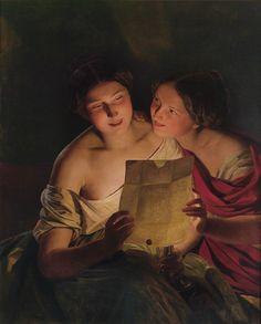 Ferdinand Georg Waldmüller (1793-1865) — The Love Letter, 1849 (1234×1535)