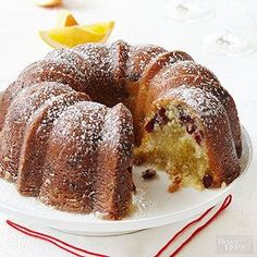 Cranberry Orange Bundt Cake From Better Homes and Gardens, ideas and improvement projects for your home and garden plus recipes and entertaining ideas.