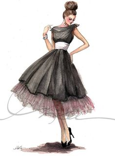 Pink Preppy Lilly Lover: Pink & Green Thursday: Fashion Illustration