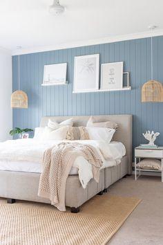 Scandi Bedroom, Coastal Bedrooms, Home Bedroom, Master Bedroom, Bedroom Artwork, Bedroom Wall, Bedroom Decor, Bedroom Art Above Bed, Bedroom Lighting