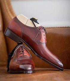 Handmade Leather Shoes for Men Slip On Shoes, Men's Shoes, Shoe Boots, Shoes Men, Zapatillas Slip On, Fashion Boots, Mens Fashion, Gentleman Shoes, Moda Emo