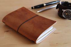 Ledereinband / Travel Journal für 2 Moleskine Cahier / Field Notes hellbraun | eBay