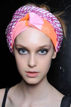 """Marc by Marc Jacobs via Refinery29: """"the bright, punchy prints really play up models' glowing skin and gorgeously defined eyes, making for an unexpectedly awesome beauty moment."""""""
