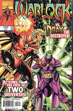 Destruction _Written by Tom Lyle. Art and cover by Tom Lyle and Robert Jones , Adam Warlock has pursued the possessed Drax the Destroyer across the galaxy! There, Adam's enemy--with the aid of two fam