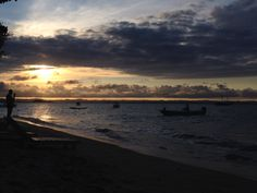 Por do sol em Barra Grande, Península de Maraú, Bahia, Brasil