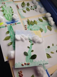 Jack and the Beanstalk mathematics and craft activity: ask students to count out…