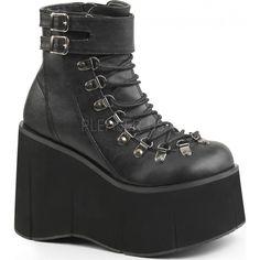 Demonia Shoes - KERA-21 Black Vegan Leather