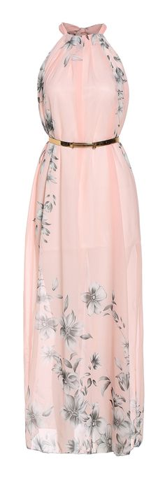Blush floral maxi