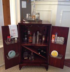 vintage philco tv cabinet made liquor cabinet