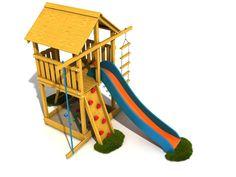 Detské ihrisko Janko Komfort 140 (smrekovec) so šmýkačkou Playground, Park, Parks