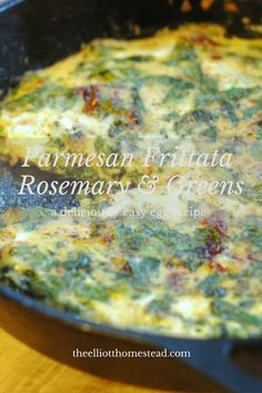 I get some crazy cravings for eggs, sometimes. Here's my recipe for a Parmesan Frittata with Fresh Rosemary and Greens. Easy Egg Recipes, My Recipes, Gourmet Recipes, Real Food Recipes, Vegetarian Recipes, Healthy Recipes, Favorite Recipes, Rosemary Recipes, Tortellini Recipes