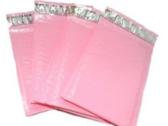 30 New Pink Bubble Mailers, Pastel Pink Padded Shipping Mailing Envelopes