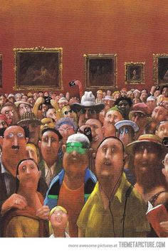 Mona Lisa's Point of View...haha.  Great picture to use as an introduction to pint of view.